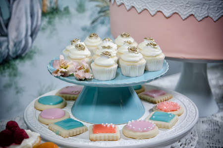 Image of beautifully decorated wedding cupcakes Stock Photo - 13493898