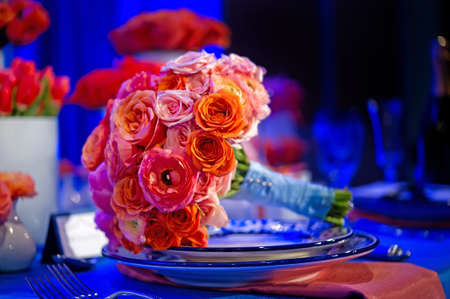 image of a very colorful wedding bouquet