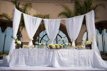 Image of a beautifully decorated wedding venue