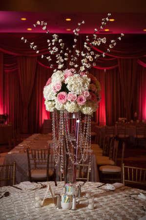 a beautifully decorated wedding flowers Archivio Fotografico