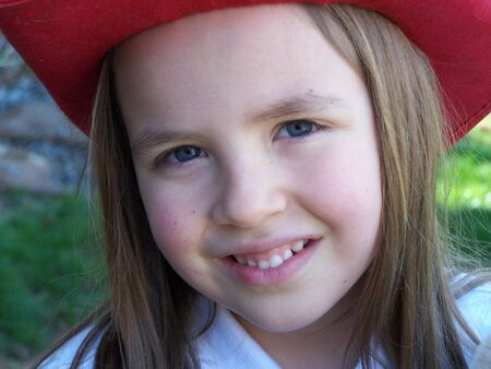 Young girl with hat Stock Photo