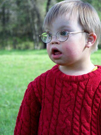 Boy with glasses Foto de archivo