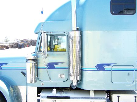 Blue truck Stock Photo