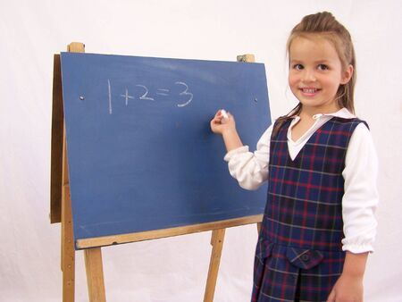 Girl at chalkboard