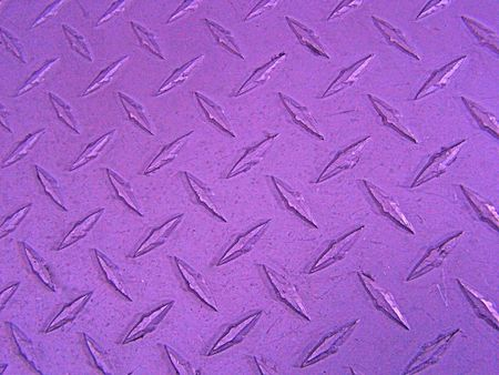 Purple diamond plate Stock Photo