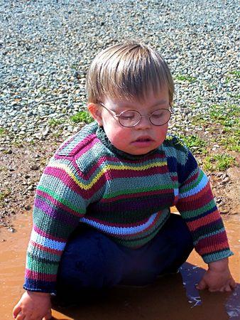Little bay sitting in mud