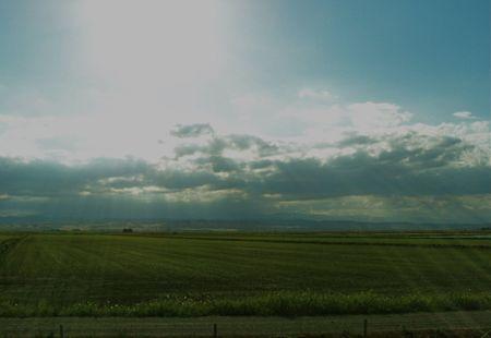 Sunshine on farmland photo