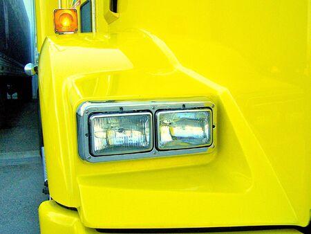 sidelight: Truck headlights Stock Photo