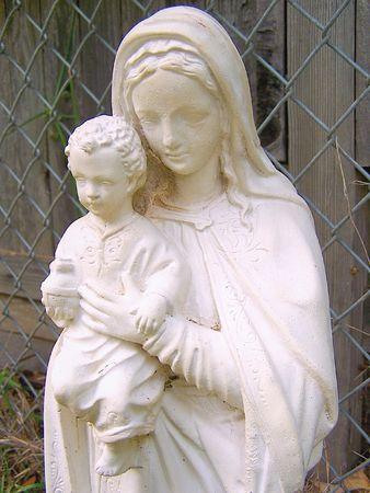 아이 예수와 성모 마리아 스톡 콘텐츠