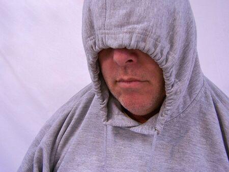 man with hooded sweatshirt Stock Photo - 3577775