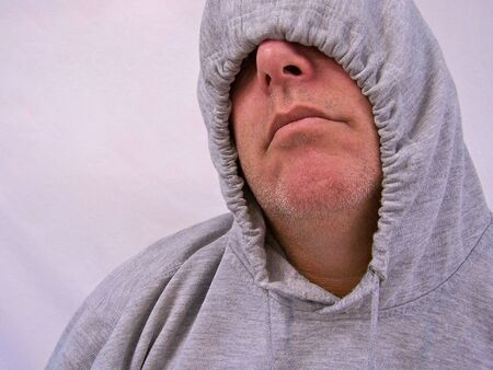 man with hooded sweatshirt Stock Photo - 3577695