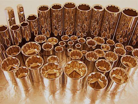the shaft: ratchet set Stock Photo