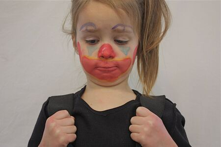 Little girl with painted face
