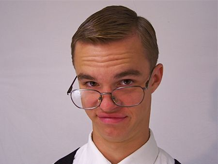 Young man with glasses Stock Photo