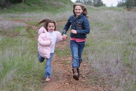 Girls running photo