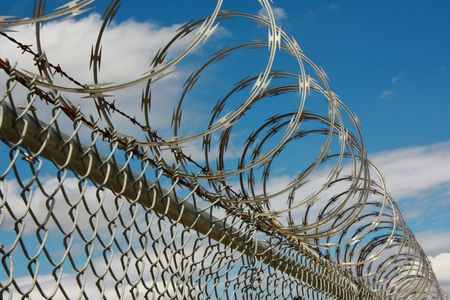 Barbed wire fence Stock Photo - 4819614
