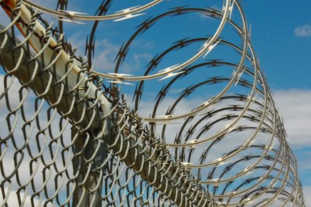 Barbed wire fence Stock Photo - 4819587