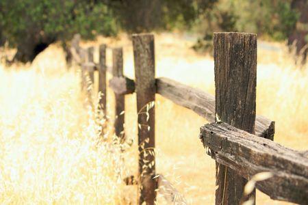 Old wood fence photo