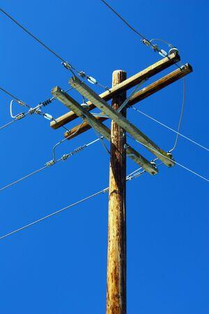 telegraphs: Telephone Pole Stock Photo