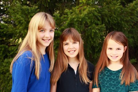 Three girls together Stock Photo - 6163838