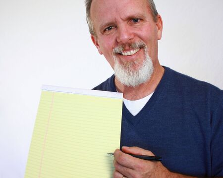 Man with notepad photo