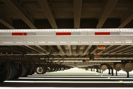 Long view under trailers Stock Photo - 7180363