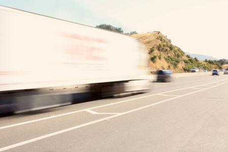 Speeding big truck Stock Photo - 7180361