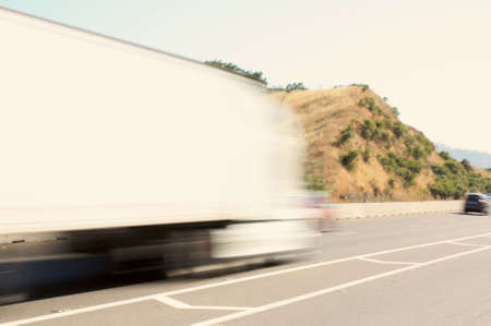 Speeding big truck Stock Photo - 7180359