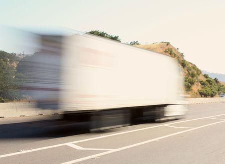 Speeding big truck photo