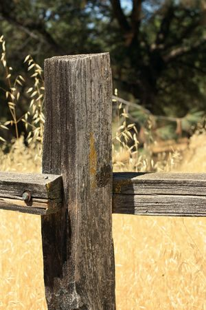 Old fence post Stock Photo - 7622788