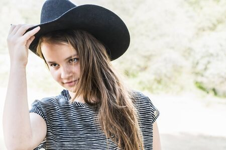black cowgirl: Young Cowgirl