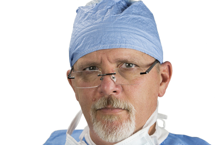 Surgeon with Glasses Surgical Uniform