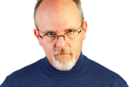 Bald Man With Glasses photo