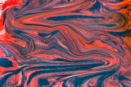 Beautiful Abstract Blue and Red Twisted Swirled Design