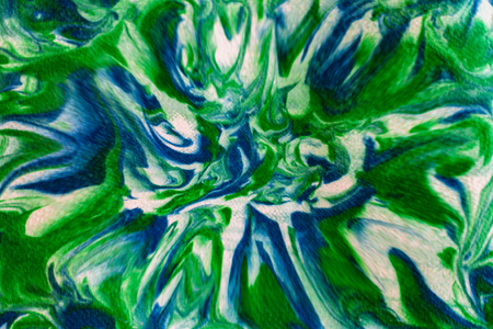 Beautiful Abstract Green, Blue and White Twisted Swirled and Blurred Design