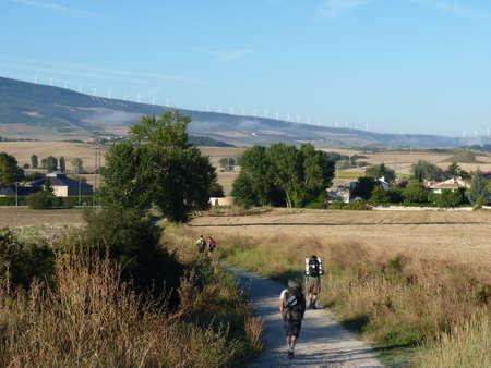 Pilgrims along the way James. People walking on the Camino de Santiago.