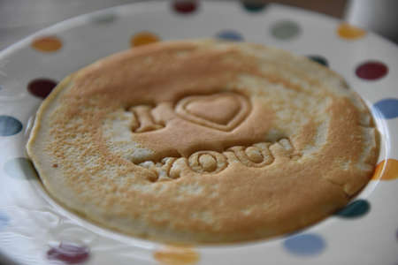 Novelty i love you pancake