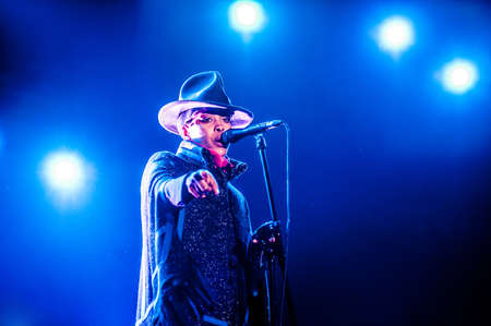 stage performer: American soul and hip-hop singer Erykah Badu performing live at Arena club, Moscow, Russia