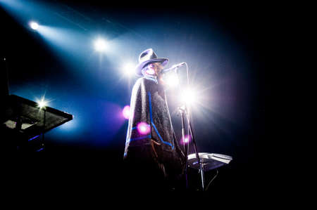 American singer Erykah Badu performing live at Arena club, Moscow, Russia.