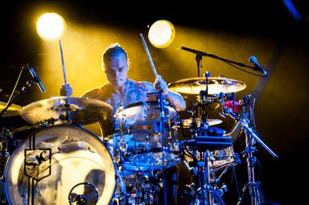 placebo: British rock band Placebo performing at Olimpiyski stadium, Moscow during World Tour. Editorial
