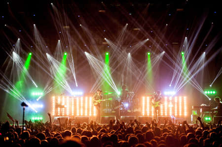 British pop-rock band the Kooks performing live at Stadium club, Moscow, Russia