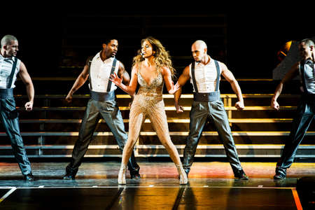 American singer Jennifer Lopez performing live at Crocus Citi Hall club, Moscow, Russia.
