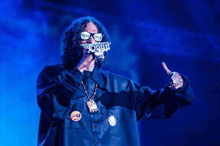 snoop: American hip-hop star Snoop Dogg performs in concert on Sziget Feztival