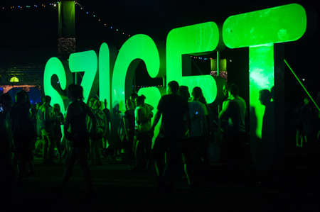Visitors of the Sziget festival in Budapest, Hungary