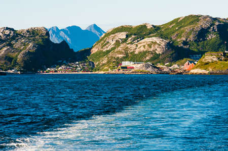 Picturesque mountains and sea in Norway Stock Photo