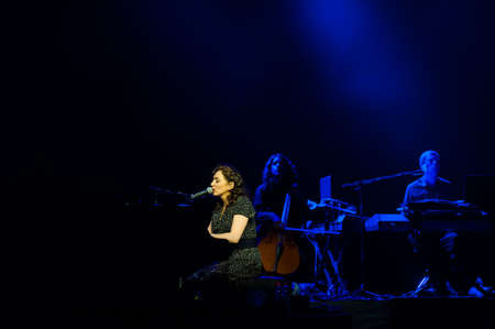 regina: July 15, 2012 - Moscow, Russia - American singer and songwriter Regina Spektor performing live at Crocus City Hall, Moscow, Russia