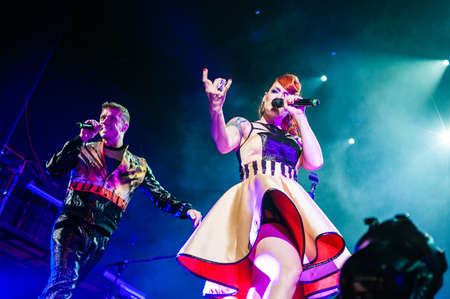 September 14, 2012 - Moscow, Russia - British pop-rock band Scissor Sisters performing live at Stadium Club, Moscow, Russia. Stock Photo - 22054504