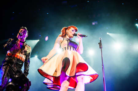 September 14, 2012 - Moscow, Russia - British pop-rock band Scissor Sisters performing live at Stadium Club, Moscow, Russia. Stock Photo - 22054505