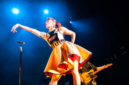 September 14, 2012 - Moscow, Russia - British pop-rock band Scissor Sisters performing live at Stadium Club, Moscow, Russia. Stock Photo - 22054509