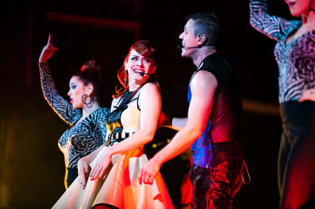 September 14, 2012 - Moscow, Russia - British pop-rock band Scissor Sisters performing live at Stadium Club, Moscow, Russia. Stock Photo - 22054516